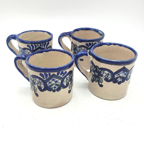 Vintage Uriarte Puebla Mexico Demitasse Cups Set of 4