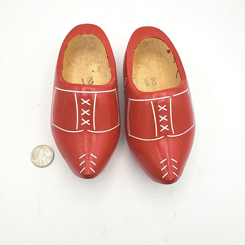 Red Wooden Clogs from Holland