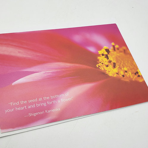 """""""Find the seed at the bottom of your heart"""" Card with Envelope"""