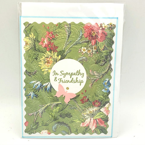 In Sympathy and Friendship Blank Card with Envelope