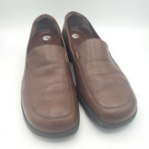 Naturalizer Brown Leather Loafers - size 10.5