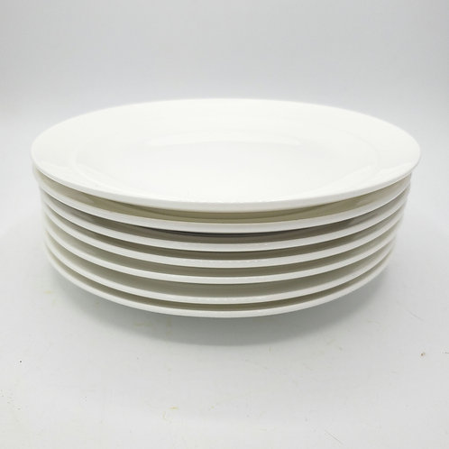 """Crate & Barrel Small Appetizer Salad Plates 8"""" Set of 7 (small scratches)"""