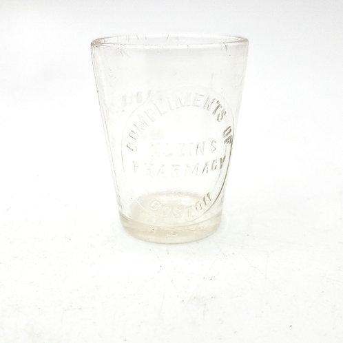 Vintage Bostons Kleins Pharmacy Dose Glass