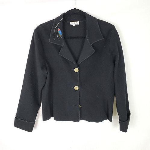 K.D. Spring Wool Blazer with Applique - S