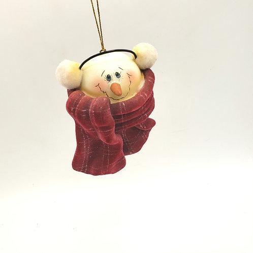 Cozy Snowman Ceramic Ornament
