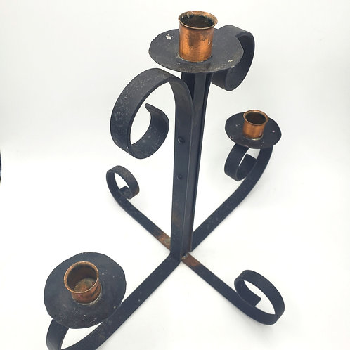 Wrought Iron Centerpiece Tabletop Candle Holder