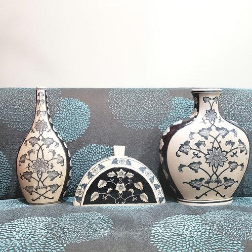 Decorative Ceramic Vases Set of 3