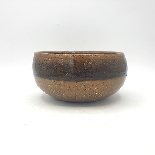 """Handmade Pottery Bowl Signed 7""""W 3""""H"""