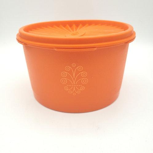 Vintage Tupperware Harvest Orange Canister