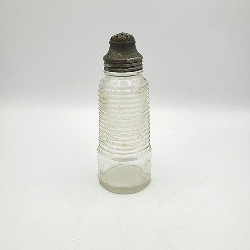 """Vintage Ribbed Glass 5.5"""" Salt Shaker"""