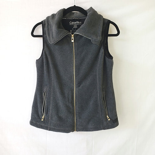 Calvin Klein Active Gray Fleece Vest - S