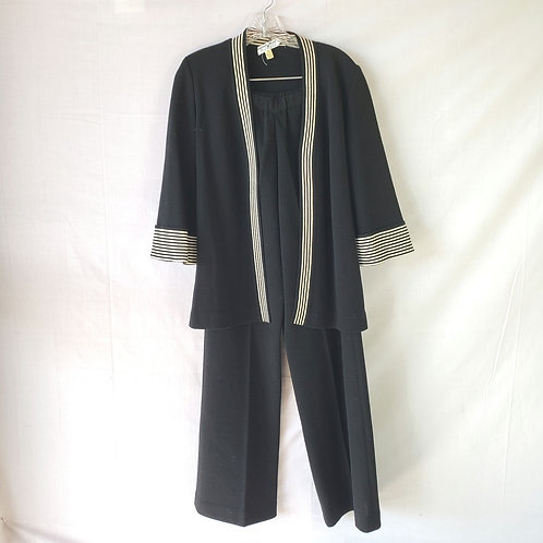 Carroll Reed Ski Shops Black & White Wool Suit - size 10