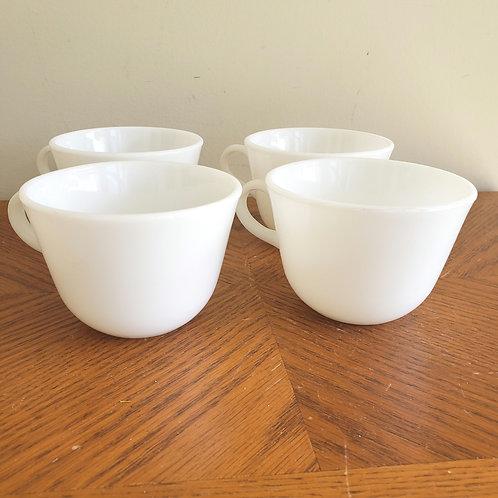 Vintage Pyrex White Milk Glass Mug Corning Microwave Safe Set of  4