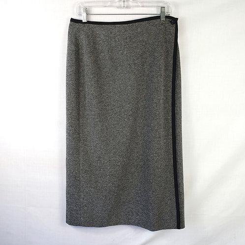 Talbots Gray Wrap Skirt - 12P