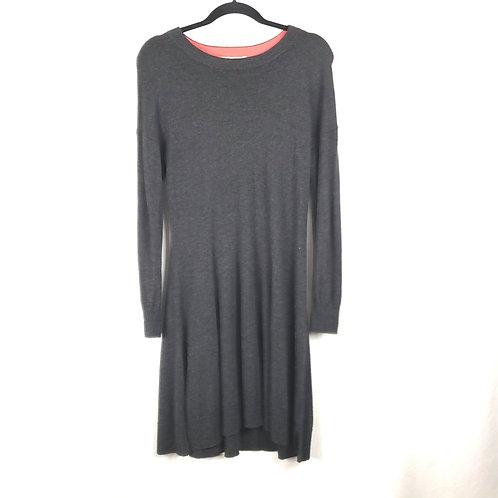 Boden Charcoal Wool Blend Dress - size 8