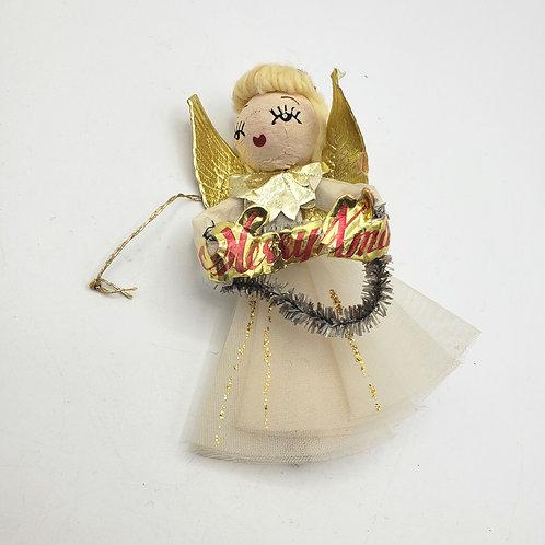 Vintage Angel Ornament As Is