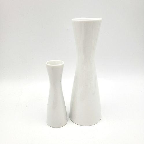 "Vintage Rosenthal Germany White Porcelain Bud Vases 5"" and 7""  Set of 2"