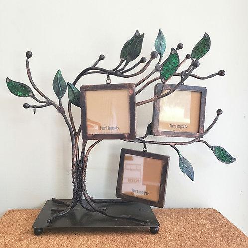 Pier 1 Imports Decorative Metal Tree 3 Hanging Photo Frames