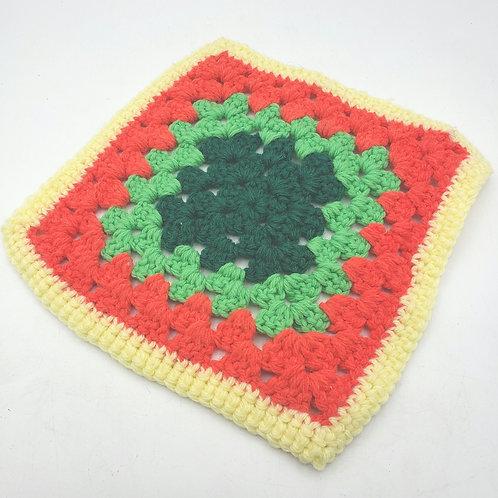 "Vintage Crochet Potholder Trivet 9"""