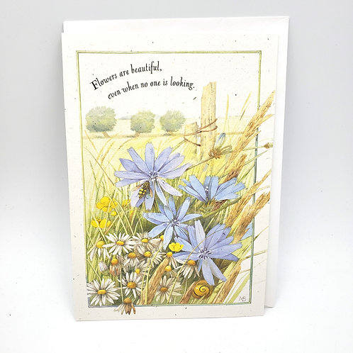 Hallmark Flowers are Beautiful Even When No One is Looking Card with Envelope