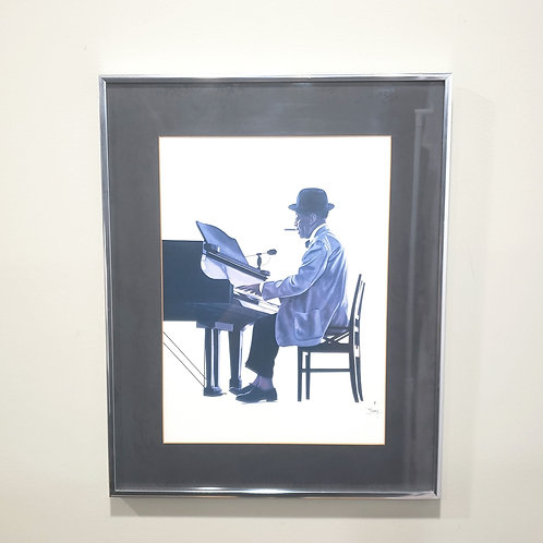 Tom Mckinney Wall Art Mr. Piano Man 1980 Lithograph