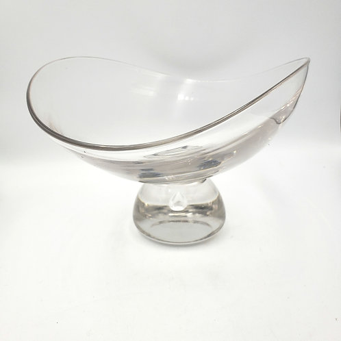 """Decorative Heavy Art Glass Bowl with Stem 11"""" x 9"""""""