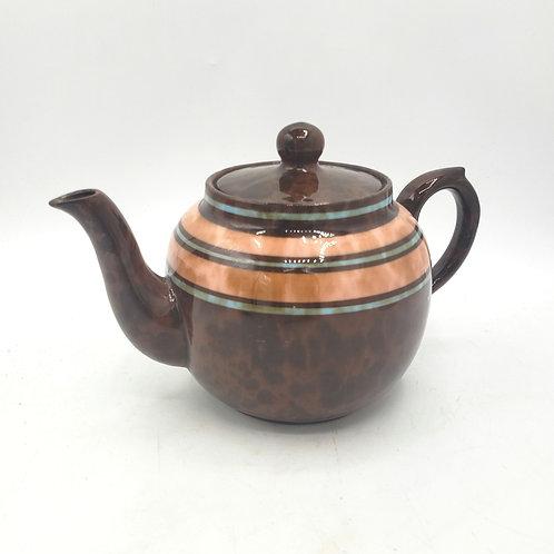 Vintage Sadler Brown Betty Ceramic Teapot Single England