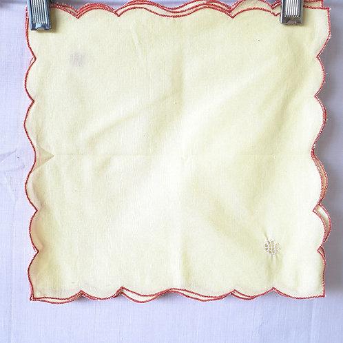 Vintage Yellow Napkins Set of 4