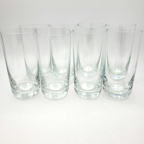 Tall Glass Ware Rounded Heavy Bottom(Prevents tipping) Set of 8