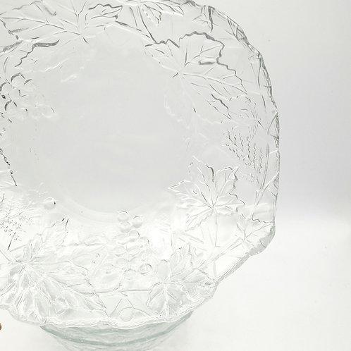 "Vintage Cristal D'arques Mallory Salad Bowls Crystal 6.5"" 2""H Set of 4 GrapeVine"
