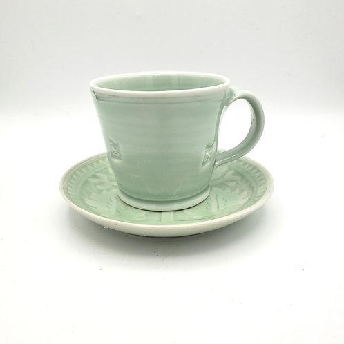 Jingdezhen China Handmade Tea Cup and Saucer