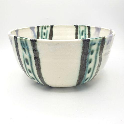"Handmade Pottery Centerpiece Bowl 10.5""W 5""H"
