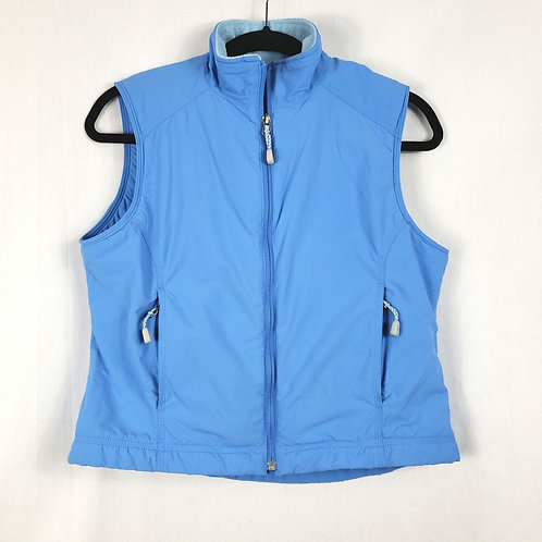 LL Bean Blue Fleece Lined Vest - SP