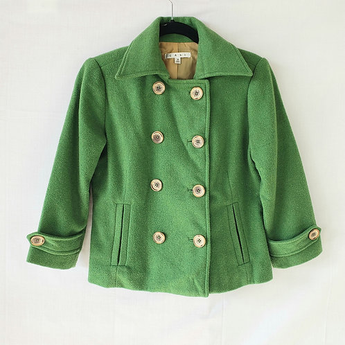 Cabi Bright Green Peacoat Blazer - size 2