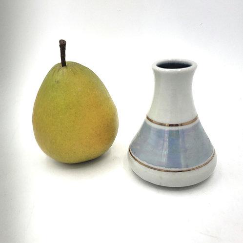 "Handmade Pottery Small Vase Glazed Gold Signed 4"""
