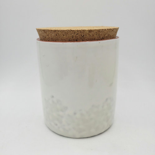 """Val Do Sol Ceramic Canister with Wide Mouth Cork Lid 7""""H"""