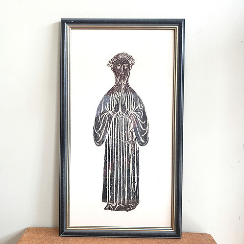 """Framed Screen Print Lithograph Etching 13""""x22"""""""
