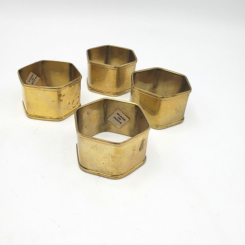 Brass Napkin Rings India Set of 3