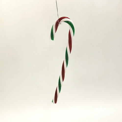Candle Cane Ornament 6.5""