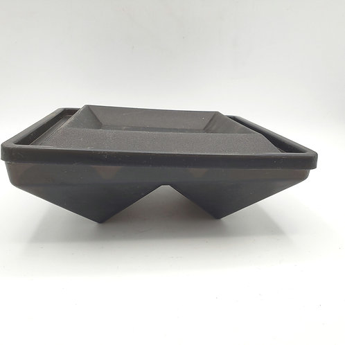 Vintage Black 2 Side Compartment Tupperware Container