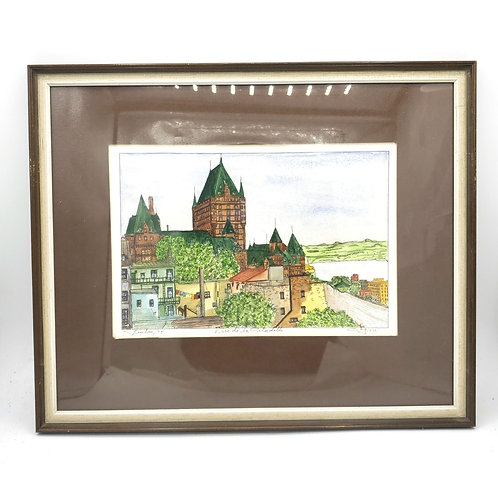 """Quebec 1974 La Citadelle 1974 Signed and Matted Watercolor12""""x15"""""""