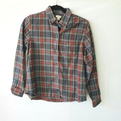 LL Bean Plaid Flannel Shirt - XSP