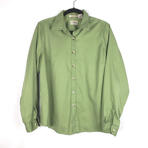 LL Bean Green Cotton Shirt - L