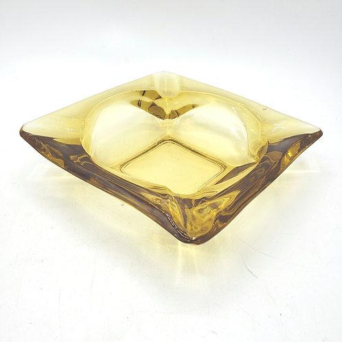 Vintage Amber Glass Ash Tray