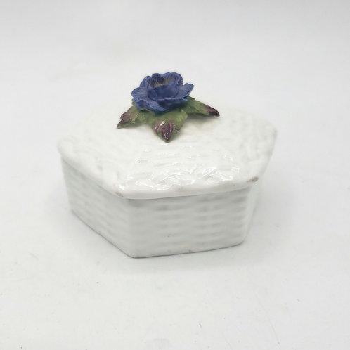 Vintage Aynsley Hand Modelled Handpainted Fine Bone China Trinket Box