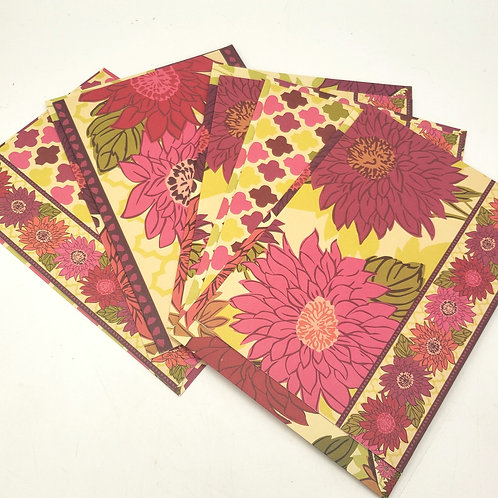 Very Bradley Floral Blank Cards with Envelopes Set of 5