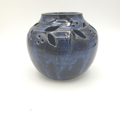 "Handmade Pottery Tealight Candle Holder 5"""