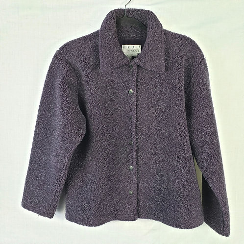 Real Comfort Cozy Purple Button Up Jacket - S