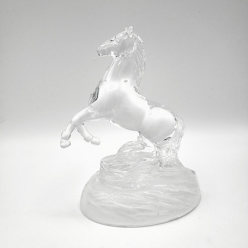 """Glass Horse Figurine with Frosted Base 6""""×3""""×5"""""""