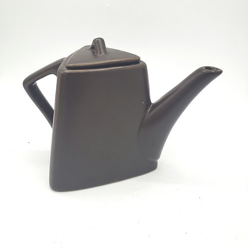 Ceramic Dark Brown Teapot for Two Produced for Designpac